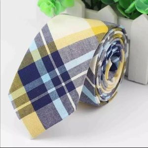 Yellow / Blue Plaid (Easter / Spring) Tie